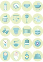 A collection of baby items
