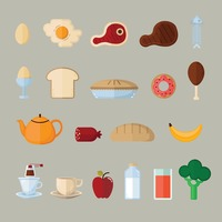 A collection of different food types