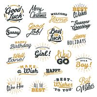 A collection of simple hand letterings