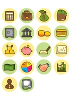 A set of bank related icons
