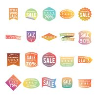 A set of cyber monday labels