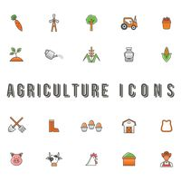 Agriculture icons set