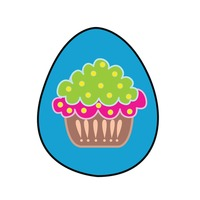 An easter egg isolated over white background