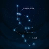 Andromeda and pegasus constellation