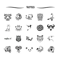 Animal tattoo set