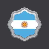 Argentina flag badge