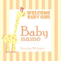 Baby name arrival card