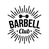 Barbell club label