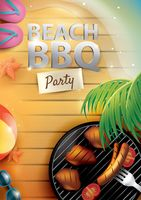Beach barbecue party