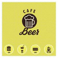 Beer cafe menu card design