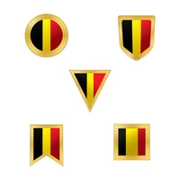 Belgium flag icon collection