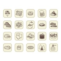 Belgium food icons