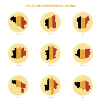 Belgium geographical icons