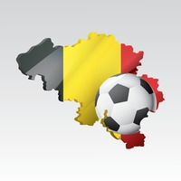 Belgium map with football