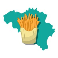 Belgium map with french fries
