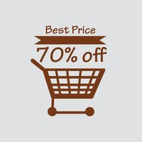 Best price text with shopping cart