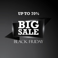 Black friday big sale banner