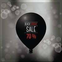 Black friday sale balloon