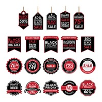 Black friday sale labels and tags collection