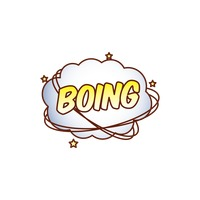 Boing comic speech bubble
