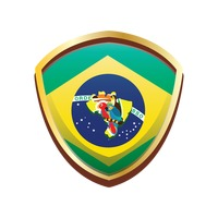 Brazil badge with map and birds