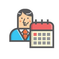 Businessman and calendar