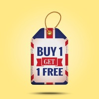 Buy one get one offer tag