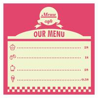 Cafe menu card design