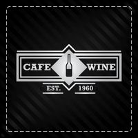 Cafe wine label