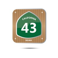 California route forty three road sign