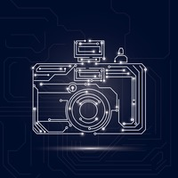 Camera design on circuit board background
