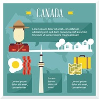 Canada travel infographic