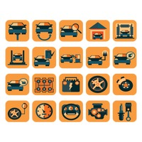 Car service station icons