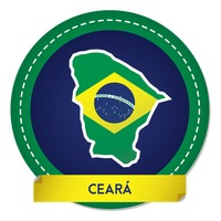 Ceara map sticker