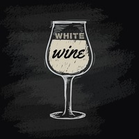 Chalk wine icon