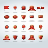 China flag icons