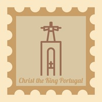 Christ the king portugal postal stamp