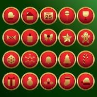 Christmas decoration button set