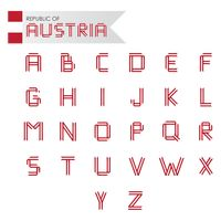 Collection of austra flag alphabets