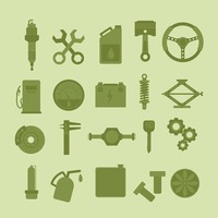 Collection of automobile parts and tools