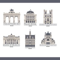 Collection of belgium monuments