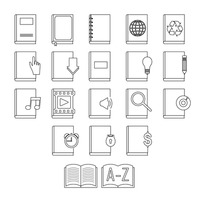 Collection of book icons