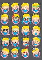 Collection of boy emoticons
