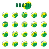 Collection of brazil general icons