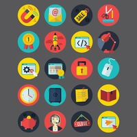 Collection of business related icons
