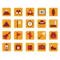 Collection of camping icons