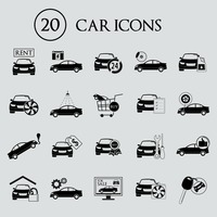 Collection of car icons