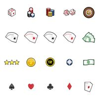 Collection of casino icons