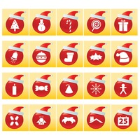 Collection of christmas button