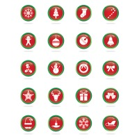 Collection of christmas buttons
